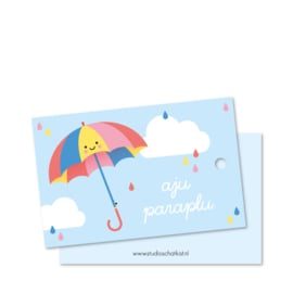 Cadeaulabel aju paraplu (DL)