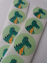 sluitstickers Dino, 5 stuks