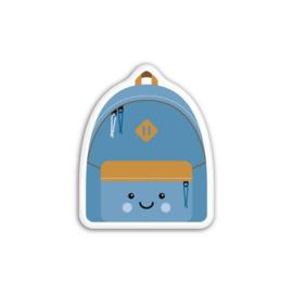Magneet, blauwe rugzak