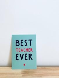 Minikaartje best teacher ever