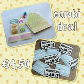 Combi deal; inpaksetje  voor Pasen + diy sticker paaseitjes pot