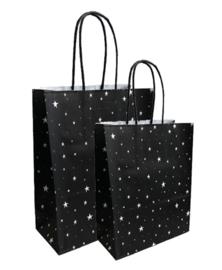 Papieren tasjes - Little Stars 18+8x22 cm