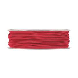 Elastisch koord, bordeaux rood 5 meter