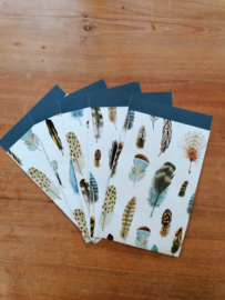 cadeauzakje feathers 12 x 19 cm