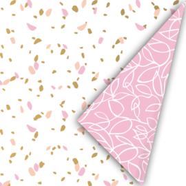 Inpakpapier sow roze