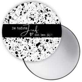 Zakspiegel de tofste juf  dat ben jij zwart/wit dots