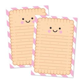 notitieblok A5 schrijfkoekje, blokje met koekjes