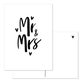Kaart Mr & Mrs