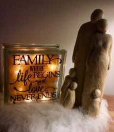 Glasblok lamp family