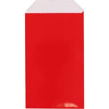 cadeauzakje rood 15x22 cm (L)