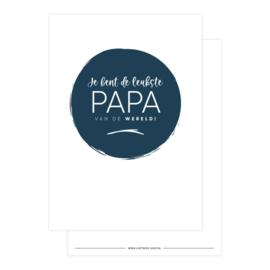 kaart je bent de leukste papa van de wereld!
