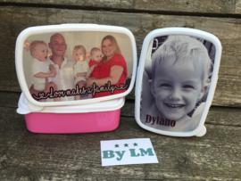 broodtrommel / lunchbox met foto