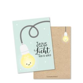 Ansichtkaart, Jezus is het Licht voor de wereld