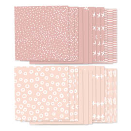 Foto achtergronden roze, 24 velletjes (8x3)