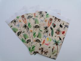cadeauzakje jungle dieren   12 x 19 cm