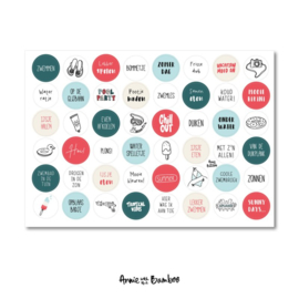 Stickervel zwemmen,   48 ronde (sluit)stickers