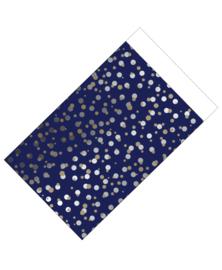 cadeauzakje  spotted blue 12 x 19 cm