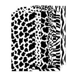 set papierstroken animal, zwart/wit  12 stroken