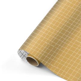 inpakpapier wishing you the best goud/wit/zwart  50x 300 cm