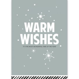 Ansichtkaart warm wishes, it's the most wonderful time of the year