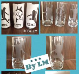Longdrink glas met sport /hobby en naam