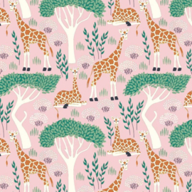 Inpakpapier jungle giraffe