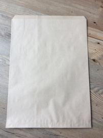 cadeauzak bruin kraft  26x36 cm (XL)