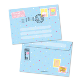 Blauwe A6 enveloppe, happy mail for you