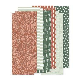 set papierstroken  herfst 12 stroken