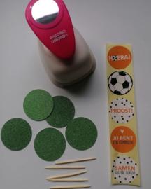 Set van 5 voetbal (sluit)stickers, EK