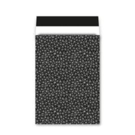 cadeauzak zwart/wit 26x36 cm (XL)