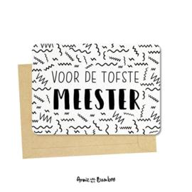 kaart voor de tofste meester, met enveloppe