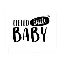 kaart Hello little baby