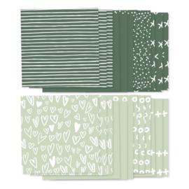 Foto achtergronden groen, 24 velletjes (8x3)