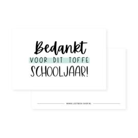 Minikaartje  bedankt voor dit toffe schooljaar! (DL)