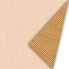 Dubbelzijdig inpakpapier connection dots natural, Blush/roest