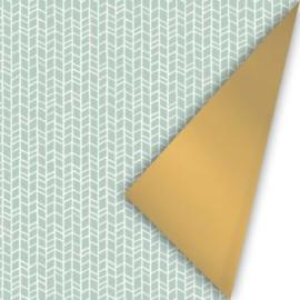 Cadeaupapier new tracks  mint/goud inpakpapier