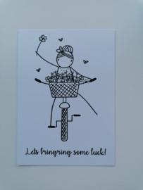 Ansichtkaart lets bringring some luck!