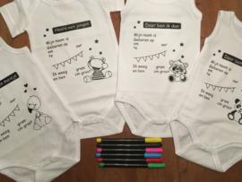 romper om in te vullen met  geboortegegevens