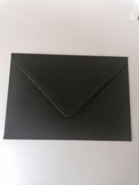 A6 enveloppe, zwart