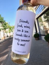 zelfklevend wijnetiket, Lovely summer , Mama Drinkt Wijn