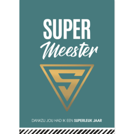 Ansichtkaart Super meester