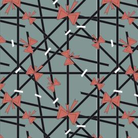 Cadeaupapier met lint,strikken en tape 70x 200 cm