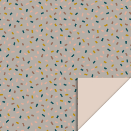 Inpakpapier confetti multi taupe -beige