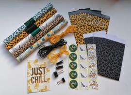 Compleet panter print pakket, cheetah
