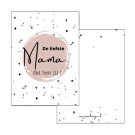 Minikaartje de liefste mama dat ben jij!