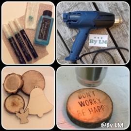 Complete starters set brand in hout pen (startersset)
