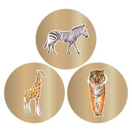 Set van drie (sluit)stickers dieren