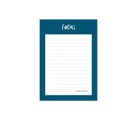 focus notitieblokje