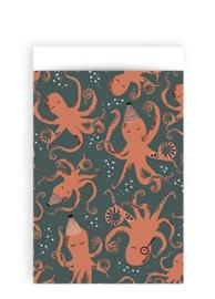 cadeauzakje octopus 12 x 19 cm ocean